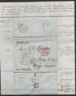 LAC De NEW YORK Daté 30 Septembre 1844 Pour La Prusse Via Halifax - Ports Et Griffes Divers - …-1845 Vorphilatelie