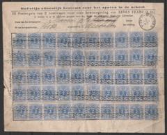 Bulletin D'épargne Affr. N°27 X50 Annulaton Roulette Càd MALINES /6 AVRIL 1884 - 1869-1888 Lying Lion
