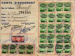 PARTI COMMUNISTE FRANCAIS.CARTE D'ADHERENT  1945 - Cartes