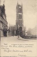 GENT GAND LA CATHEDRLE ST.BAVON ET LE THEATRE FLAMAND NELS - Gent