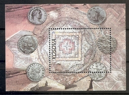 KOSOVO 2018,Legacy-Ancient Locality Of Dresnik,MOSAIC,OLD MONEY,COINS,BLOCK,MNH - Archéologie