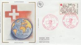 Enveloppe  FDC  1er  Jour   ANDORRE   CROIX  ROUGE  1989 - Croix-Rouge