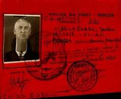 POLICE DU PORT..1940 ..ROUEN - Cartes