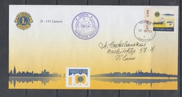 Lithuania Litauen 2017 Representative Stamp On Envelope  Lions Int. - Lithuania