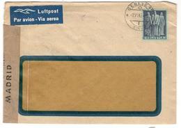 11052 - POUR L ESPAGNE AVEC CENSURE - Schweiz