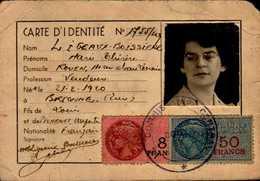 CARTE D'IDENTITE  ROUEN 1949 - Cartes