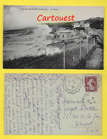 CPA 76 ֎ VEULES Les ROSE ֎ Cliché Grand Angle VILLA Et La Plage ¤¤ 1921 ¤¤ Sup. Oblitération C A D St Valéry En Caux - Veules Les Roses