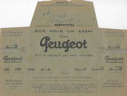 Telegramme Publicitaire Peugeot-montpellier Vers Marseillan - Télégraphes Et Téléphones
