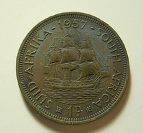 South Africa 1 Penny 1957 - Afrique Du Sud