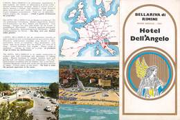 """07610 """"HOTEL DELL'ANGELO - BELLARIVA DI RIMINI (RN)"""" PIEGHEVOLE PUBBL. TURIST. ORIG. - Dépliants Turistici"""