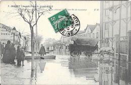 Inondations Janvier 1910 -Alfort - La Rue Des Deux Moulins, L'eau Atteint 1 Mètre 20 De Hauteur - Carte E.M. N° 7 - Inondations