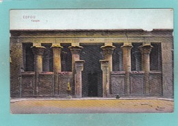 Old Post Card Of Edfou Temple,Edfu, Upper Egypt.J19. - Egypt