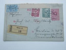 1920 , Ganzsache Als  Einschreiben  Mit Zensur Aus Graz - 1918-1945 1. Republik