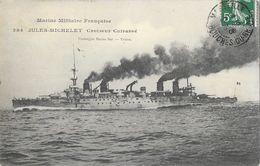 Marine Militaire - Le Jules-Michelet, Croiseur-Cuirassé - Carte Marius Bar N° 284 - Guerre