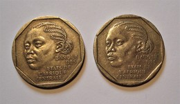 AFRIQUE CENTRALE. GABON, TCHAD 2 X 500 FRANCS 1985. CENTRAL AFRICA. - Monnaies