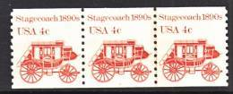 U.S. 1898 A X 3   Plate 4   **   STAGECOACH - Coils (Plate Numbers)