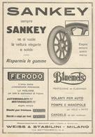 PUBBLICITA' WEISS E STABLINI MILANO SANKEY, FERODO, BLUEMELS 1923  RITAGLIATA DA GIORNALE (2) - Werbung