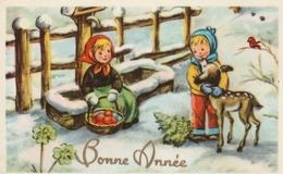 Carte Postale Des Années 60 Fantaisie - Mignonette - Bonne Année - Fantaisies