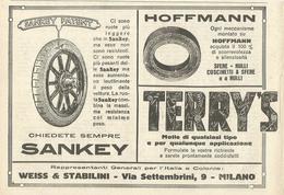 PUBBLICITA' WEISS E STABLINI MILANO SANKEY, HOFFMANN, TERRY'S 1923  RITAGLIATA DA GIORNALE (3) - Werbung