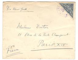 11072 - Pour La FRANCE Via NEW YORK - Costa Rica