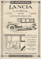 PUBBLICITA'  LANCIA LAMBDA 1926 VI SERIE 4 E 6 POSTI PNEUMATICI MICHELIN CONFORT    RITAGLIATA DA GIORNALE (6) - Werbung