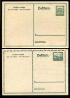 """Deutsches Reich / 1931 Ff. / 2 Sonderpostkarten """"Nothilfe"""" Mi. P 212 Und P 215 ** (1/383) - Deutschland"""