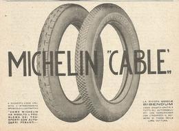 PUBBLICITA'  MICHELIN CABLE' 1923  RITAGLIATA DA GIORNALE (9) - Werbung
