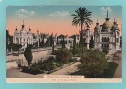 Old Post Card Of Husainabad Garden,Lucknow, Uttar Pradesh, India,J19. - India