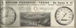 PUBBLICITA'  O.S.A. OFFICINE PIEMONTESI TORINO COSTRUZIONI DI ALTA PRECISIONE 1925  RITAGLIATA DA GIORNALE - Werbung