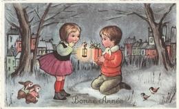 Carte Postale Des Années 60 Fantaisie - Mignonette - Enfants - Bonne Année - Fantaisies