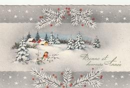 Carte Postale Des Années 60 Fantaisie - Mignonette - Bonne Et Heureuse Année - Fantaisies