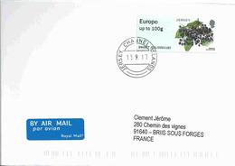 Vignette De Distributeur - ATM - IAR - Baies - Surreau Noir - FDC - Jersey