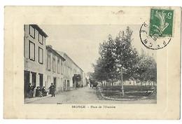 11 BELPECH PLACE DE L'ORATOIRE 1910 CPA 2 SCANS - Autres Communes