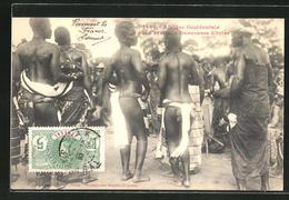 CPA Cote D'Ivoire, Danseuses Ebriés, Afrikanerinnen Beim Tanz - Ethnics