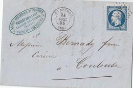 N° 14 (margé + Bdf Superieur)  /L  (. ) PC 2220  De NANTERRE / 24.12.55-> Toulouse   ( Pothion Indice 9) - Postmark Collection (Covers)