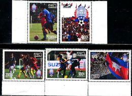 XE1160 Cambodia 2018 Football Sports Flag Etc. 5V MNH - Cambodge
