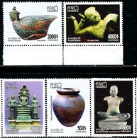 XE1161 Cambodia 2018 Cultural Relics Buddha Statues, Etc. 5V MNH - Cambodia