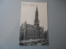 BELGIQUE BRUXELLES BRUSSEL LA GRAND'PLACE COTE SUD OUEST L'HOTEL DE VILLE - Marktpleinen, Pleinen