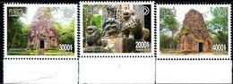 XE1163 Cambodia 2018 World Heritage Site Angkor Wat Ruins Building 3V MNH - Cambodia