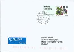 Vignette De Distributeur - ATM - IAR - Baies - Mures - FDC - Jersey