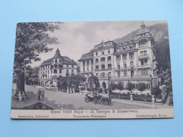 Grand Hotel Royal - St. GEORGES & Dépendance / Interlaken ( Lichtenberger ) 1914 ( Voir / Zie Photo ) ! - BE Berne