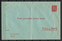 ESTLAND Estonia 1928 Stationery Cover - Estonia