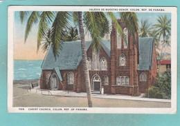 Old Post Card Of Christ Church,Colón, Colón, Panama J20. - Panama