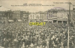 33 Libourne, Place Abel Surchamp Le Jour De L'Inauguration Du Nouvel Hotel De Ville, Verso Cachet Croix Rouge - Libourne