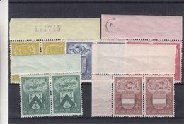 Armoiries - Belgique - COB 743 / 47 ** - En Paire - Leuven - Ostende - Mechelen - St Truiden - Dinant - Valeur 38 € - Timbres