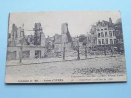 Campagne De 1914 - Ruines D'YPRES Coin Rue De LILLE ( 18 - ANTONY ) 1916 ( Voir / Zie Photo Detail ) ! - Guerre 1914-18