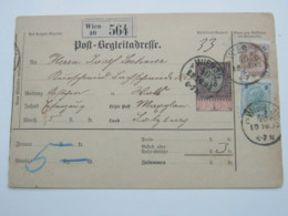 1893  , Paketkarte Aus Wien - Briefe U. Dokumente