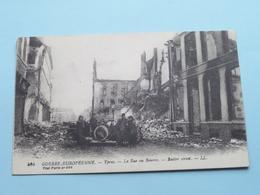 Guerre Européenne - YPRES La Rue Au Beurre / Butter Street ( 504 Visé Paris ) 1918 ( Voir / Zie Photo Detail ) ! - Guerre 1914-18