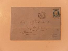 FRANCE  YT 60C LETTRE AVEC CACHET ROND PARIS 08/02/1876 - 1871-1875 Cérès