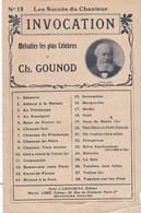 Les Succès Du Chanteur N°15  INVOCATION De FAUST  Ed. Choudens Marcel L'Abbé  Paroles O.Pradère  Ch.Gounod - Partitions Musicales Anciennes